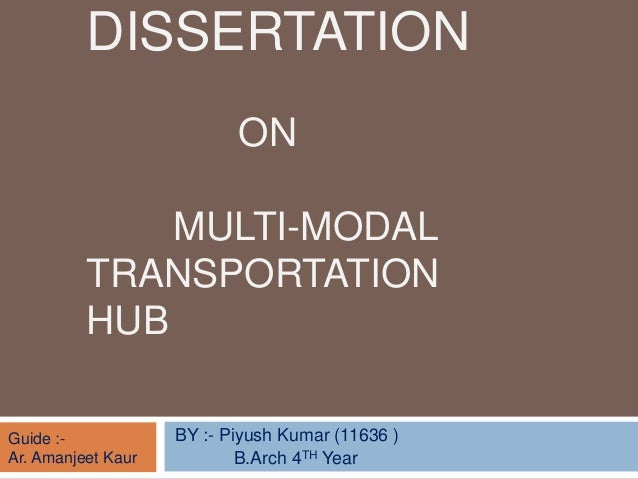 dissertation sustainable transport