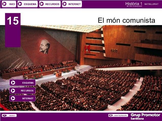 Història 1 del món contemporani  15  BATXILLERAT  El món comunista  ESQUEMA RECURSOS INTERNET