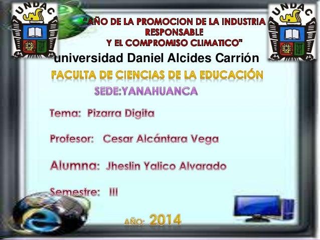 universidad Daniel Alcides Carrión