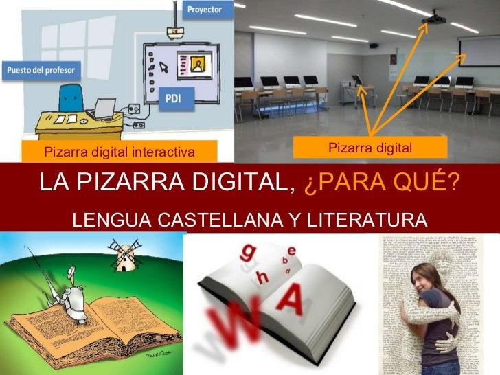 La pizarra digital en la clase de Lengua Castellana y Literatura, ¿para qué?