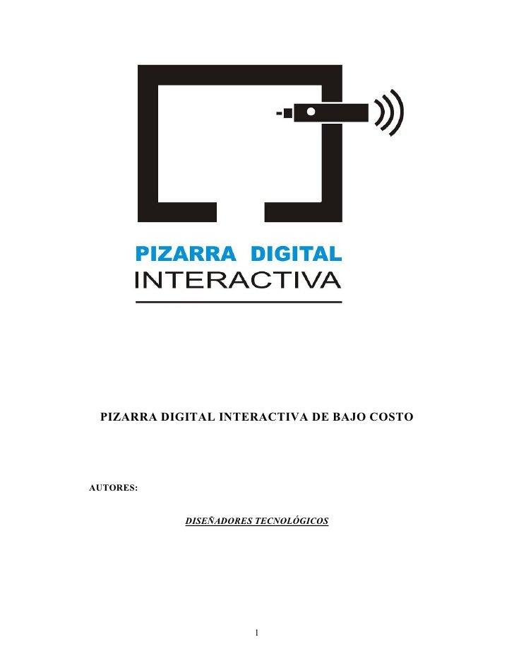 Pizarra digital interactiva de bajo costo
