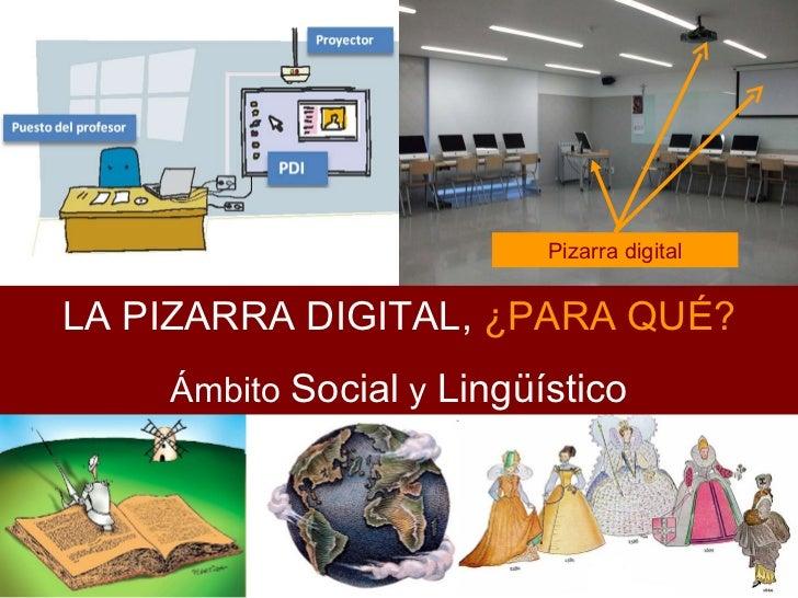 Pizarra digital LA PIZARRA DIGITAL,  ¿PARA QUÉ? Ámbito  Social  y  Lingüístico