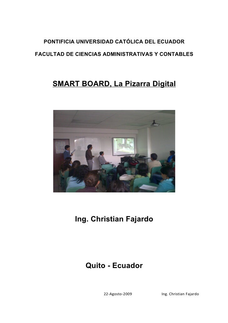 Pizarrón interactivo Smart Board Profesor
