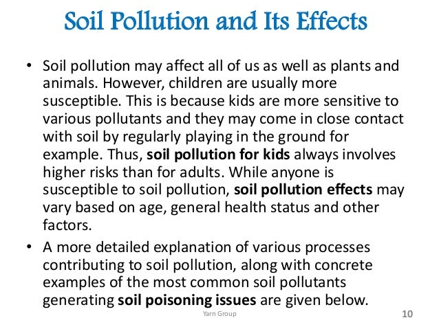Land and soil pollution essay