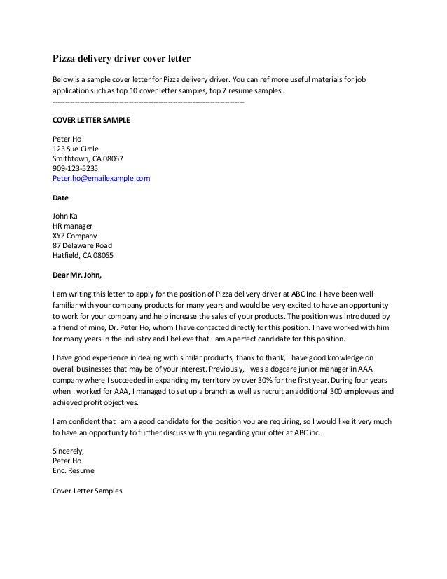 truck driver application letter sample john raddall