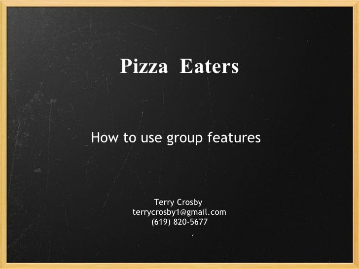 Pizza eaters Instructions