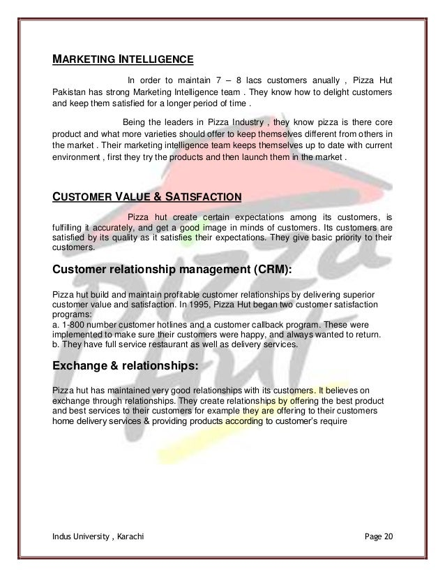 pizza hut marketing 4p This marketing research report is about the strategy of pizza hut for entering a new market this research includes the preferences of the customers for going to any.