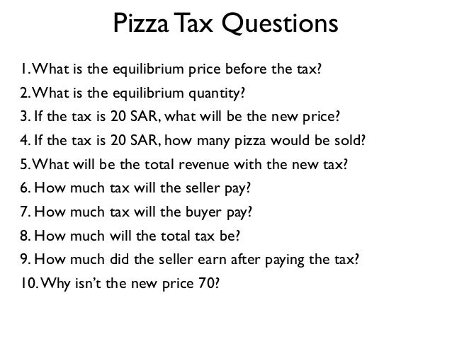 1.What is the equilibrium price before the tax? 2.What is the equilibrium quantity? 3. If the tax is 20 SAR, what will be ...