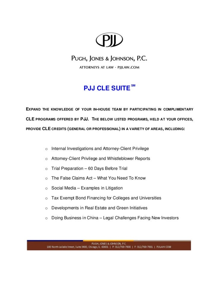 PJJ CLE Suite