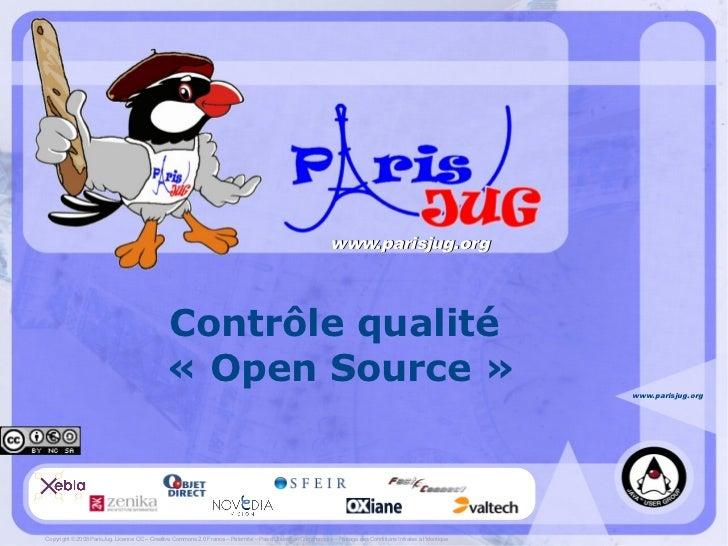 www.parisjug.org                                                    Contrôle qualité                                      ...