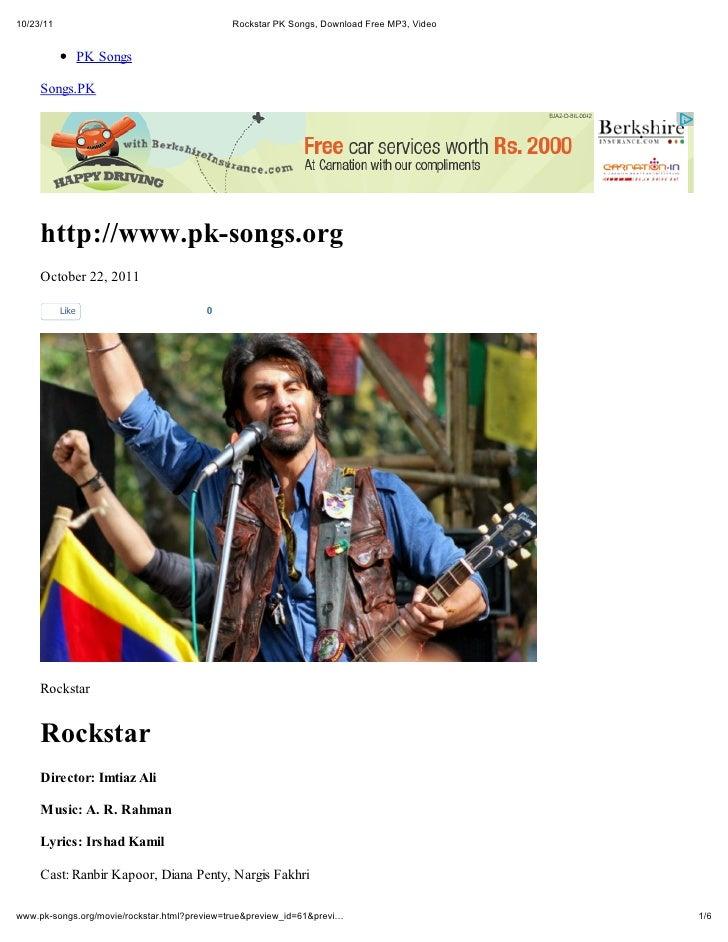 10/23/11                                Rockstar PK Songs, Download Free MP3, Video                  PK Songs     Songs.PK...