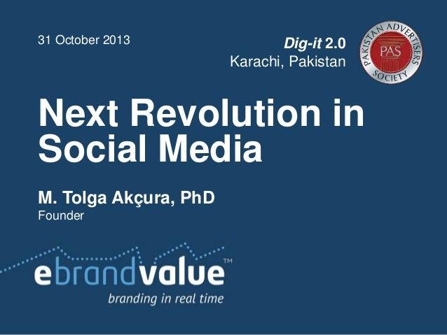"""""""Next Revolution of Social Media"""" by Dr. Tolga Akcura, Turkey"""