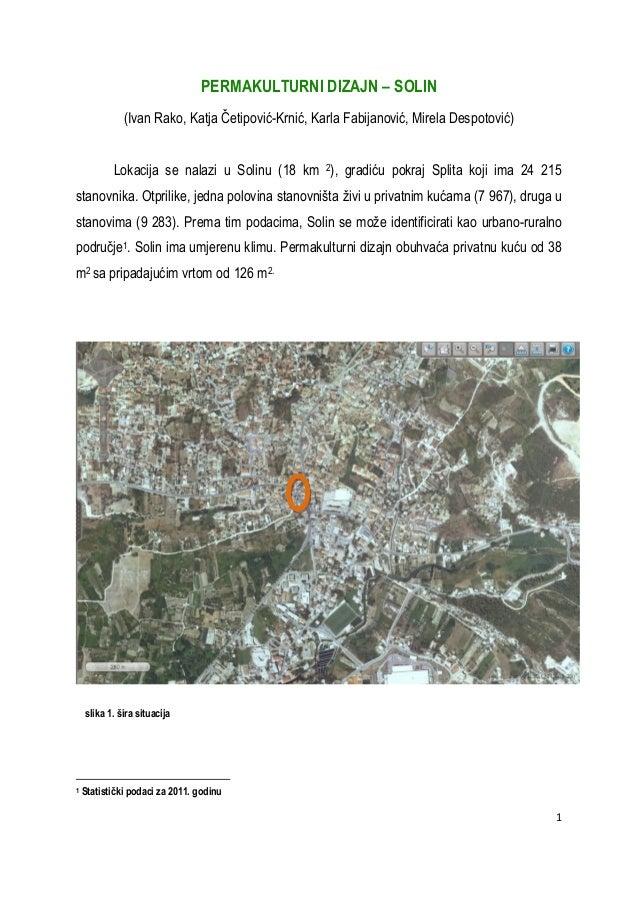 Permakulturni dizajn za permablitz 11.11.2012. u Solinu