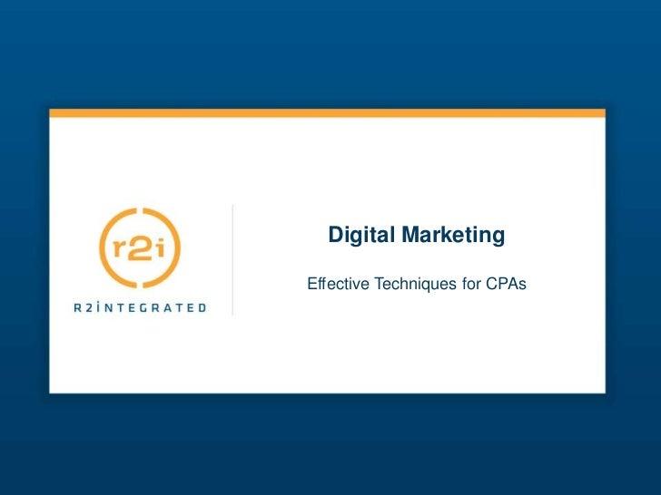 Digital MarketingEffective Techniques for CPAs