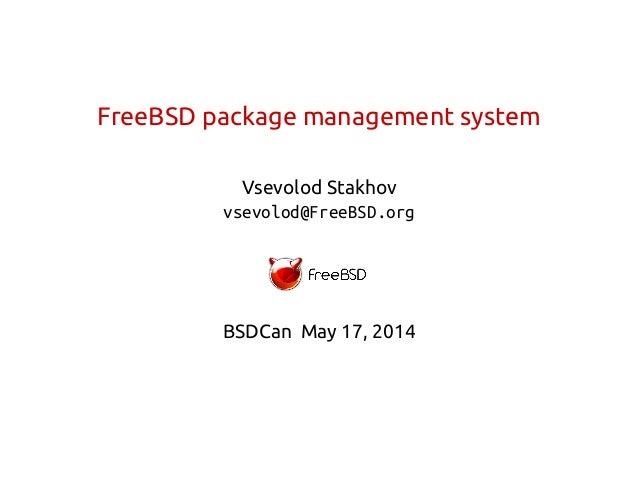 Pkg slides from BSDCan conference