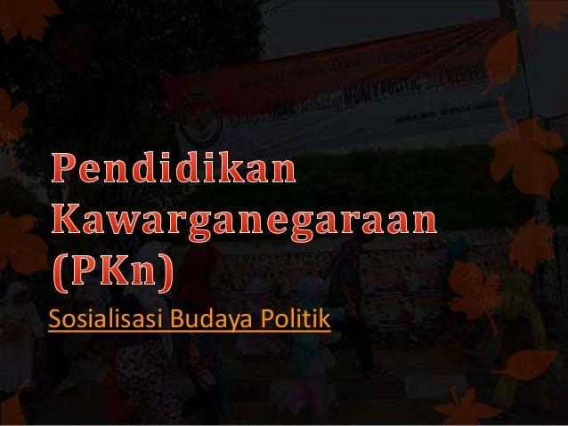 Pendidikan dan Kewarganegaraan 'Pkn' - sosialisasi budaya politik (LKS simple)
