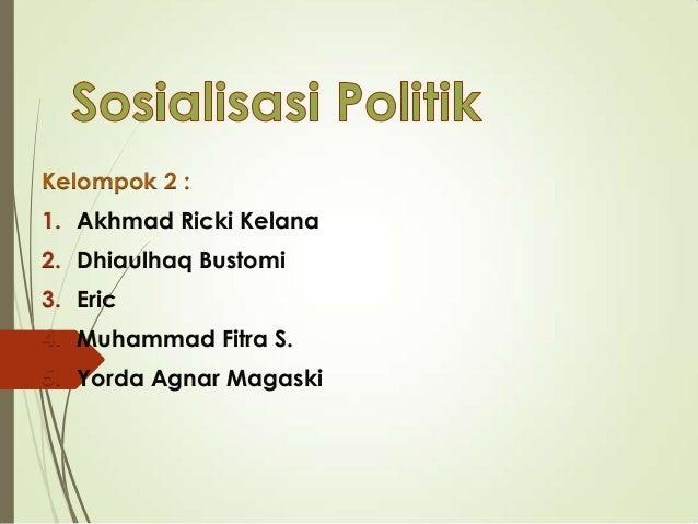 Pkn sosialisasi politik