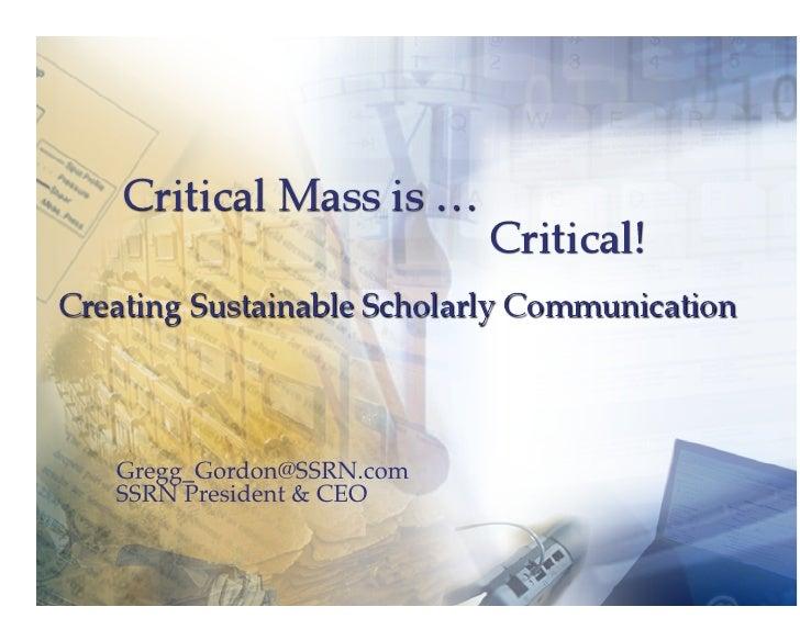 Pkp 2009   Critical Mass Is Critical 2009