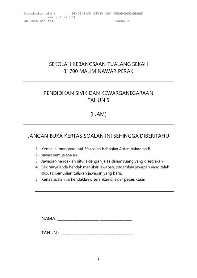 Pksr1 sivik tahun 5 (2013) by mr chin