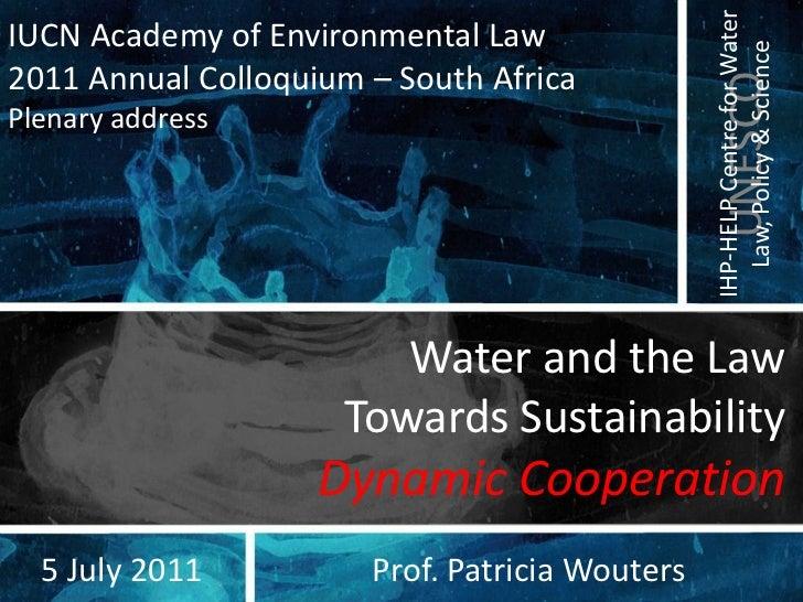 Pkw plenary address iucn  5 july 2011