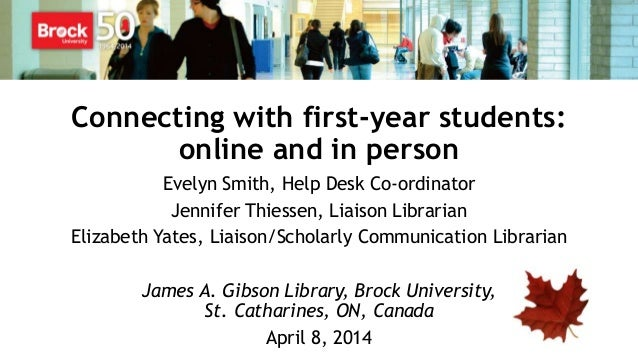 Connecting with First Year Students: Online and In-Person