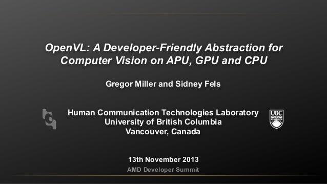 PL-4043, Accelerating OpenVL for Heterogeneous Platforms, by Gregor Miller