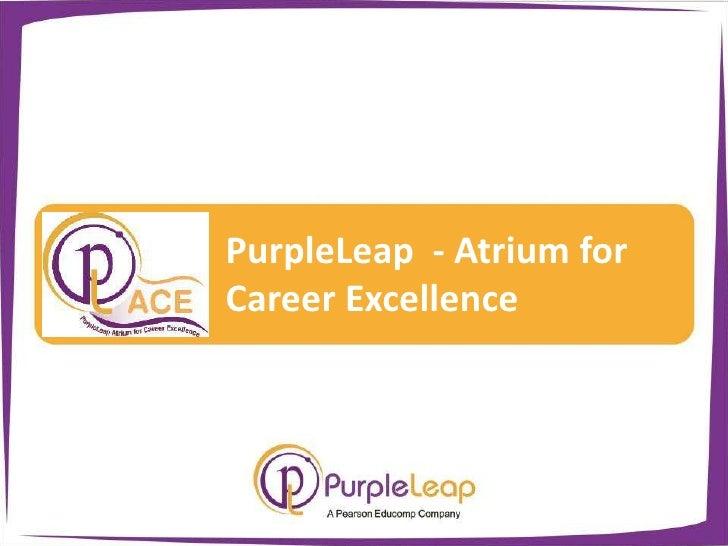PurpleLeap  - Atrium for Career Excellence<br />