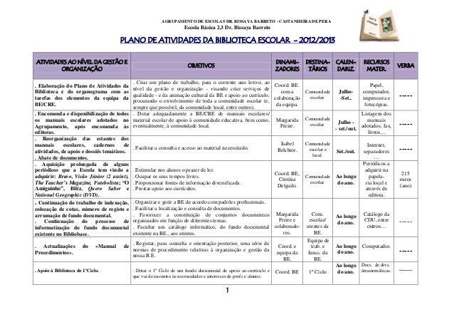 Plano At BE 2012-2013