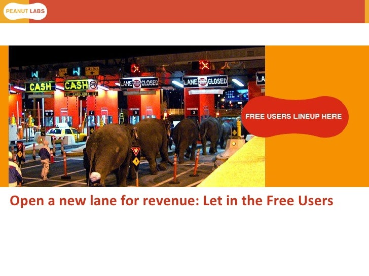 Open a new lane for revenue: Let in the Free Users