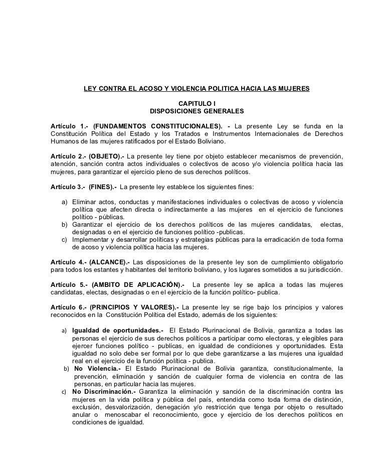 Pl 026 2012 2013 acoso y violencia politica