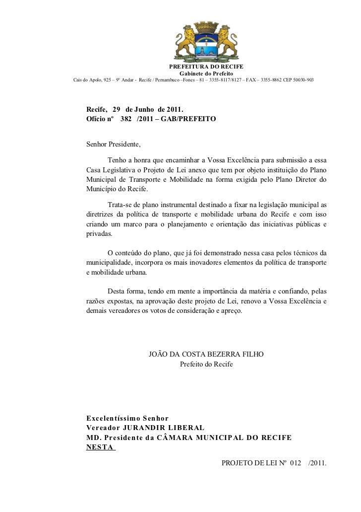 PREFEITURA DO RECIFE                                               Gabinete do PrefeitoCais do Apolo, 925 – 9° Andar - Rec...