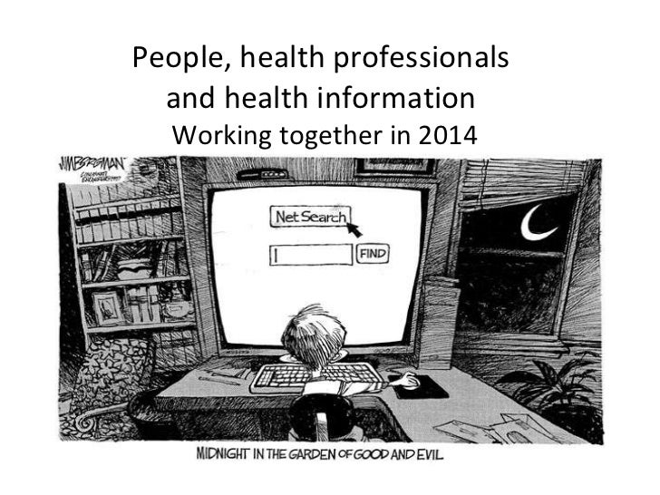 People, health professionals  and health information  Working together in 2014