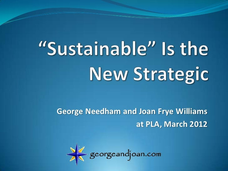 Sustainable Is the New Strategic