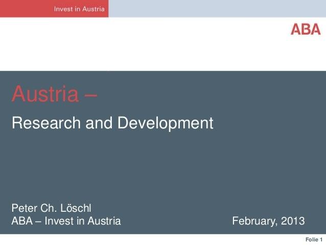Peter Ch. Löschl - Invest in Austria