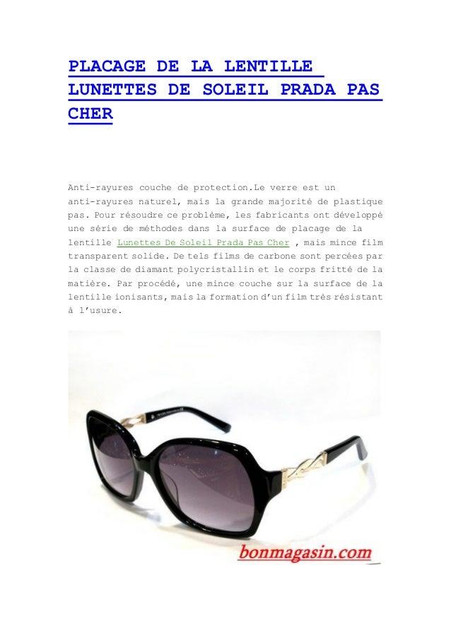 Placage de la lentille lunettes de soleil prada pas cher