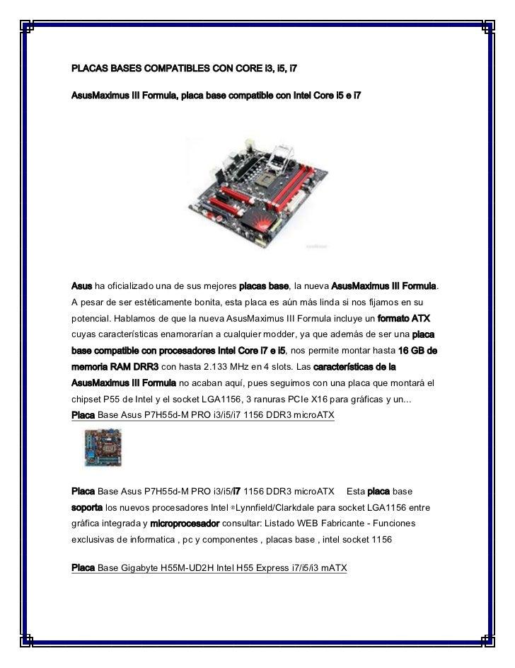 Placas bases compatibles con core i3