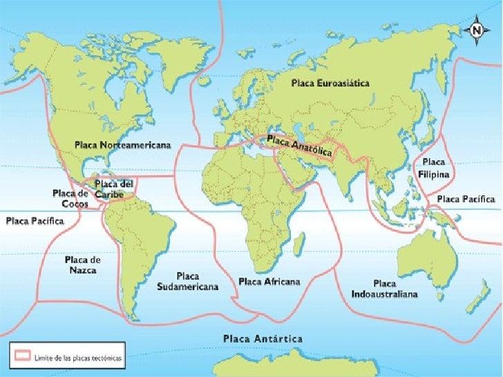 Resultado de imagen para placas tectonicas