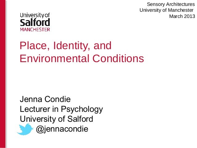 Place identity and environmental conditions