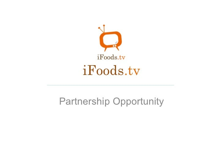 iFoods .tv Partnership Opportunity