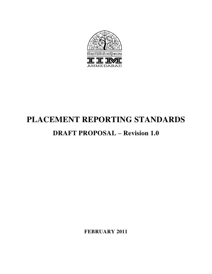 PLACEMENT REPORTING STANDARDS    DRAFT PROPOSAL – Revision 1.0            FEBRUARY 2011