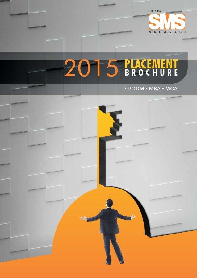 placement brochure design - school of management sciences varanasi placement brochure