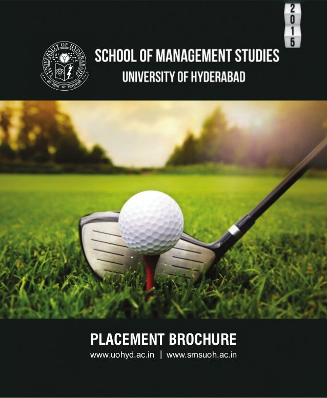 placement brochure design - placement brochure school of management studies uoh 2014 15