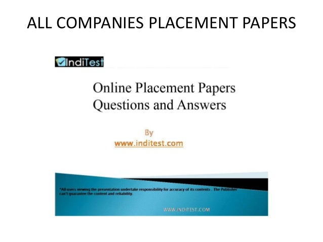 ALL COMPANIES PLACEMENT PAPERS