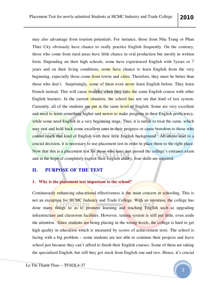 placement test essay practice Barton college practice placement test page 4 of 12 25 the profit, p, realized by a company varies directly as the number of products s it sells.
