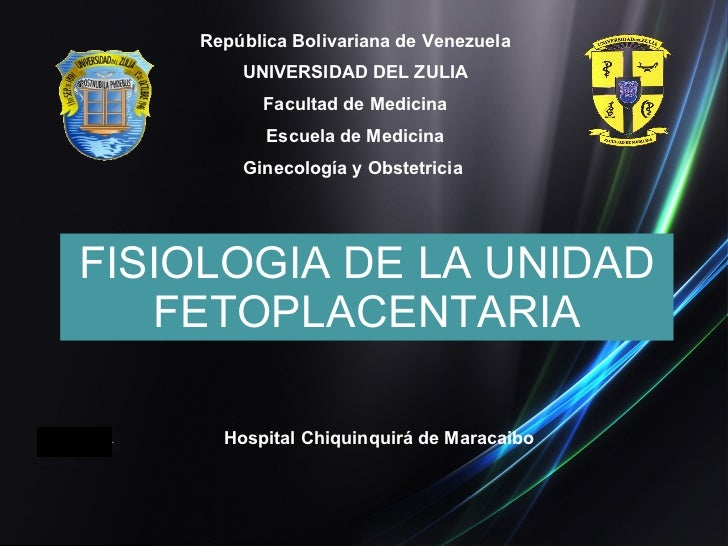 Hospital Chiquinquirá de Maracaibo República Bolivariana de Venezuela UNIVERSIDAD DEL ZULIA Facultad de Medicina Escuela d...