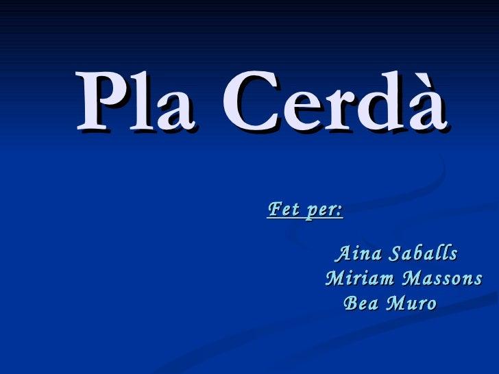 Pla Cerdà