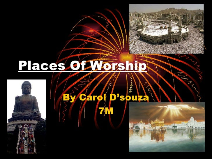 Places Of Worship By Carol D'souza 7M