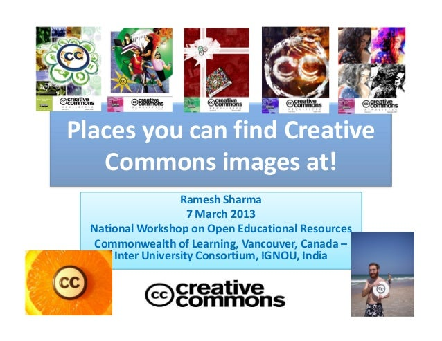 Places you can find creative commons images at