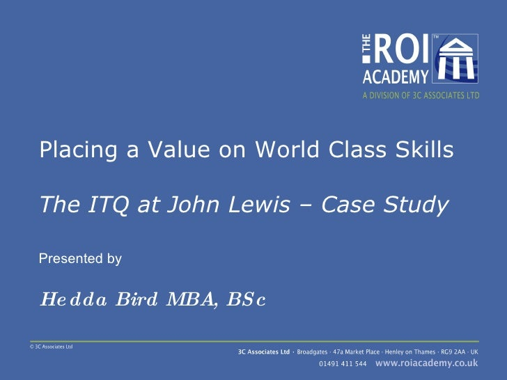 Placing A Value On World Class Skills