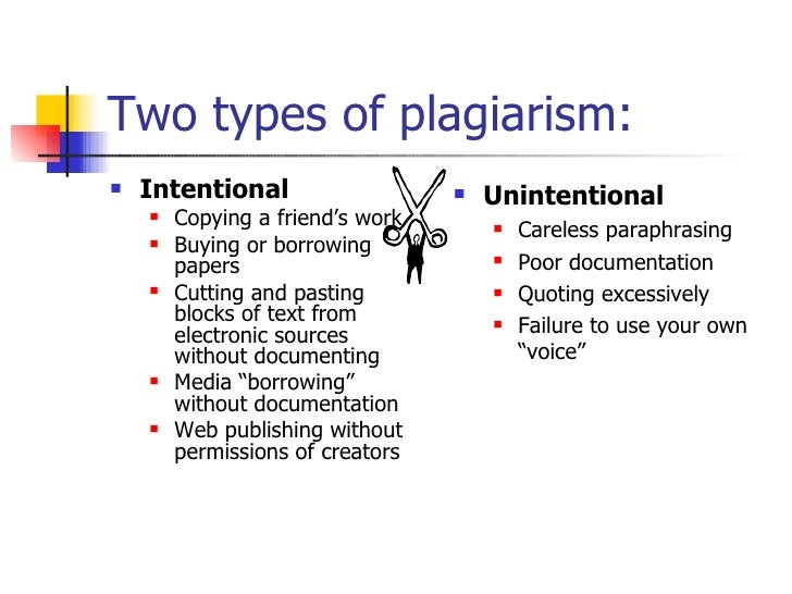 the three main points to avoid unintentional plagiarisms Clic plagiarism tutorial see also: plagiarism: there are different types of plagiarism–unintentional and if you understand the main points and can put them.